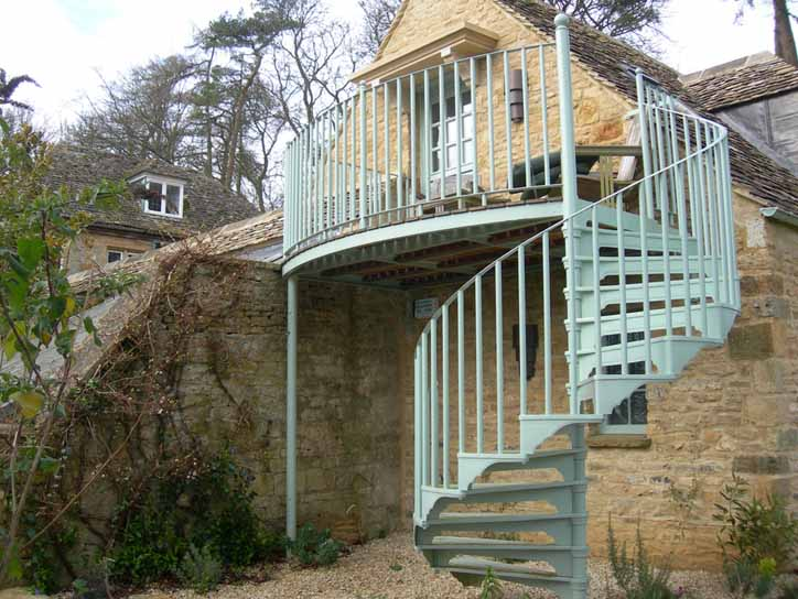 Pastel Spiral Staircase