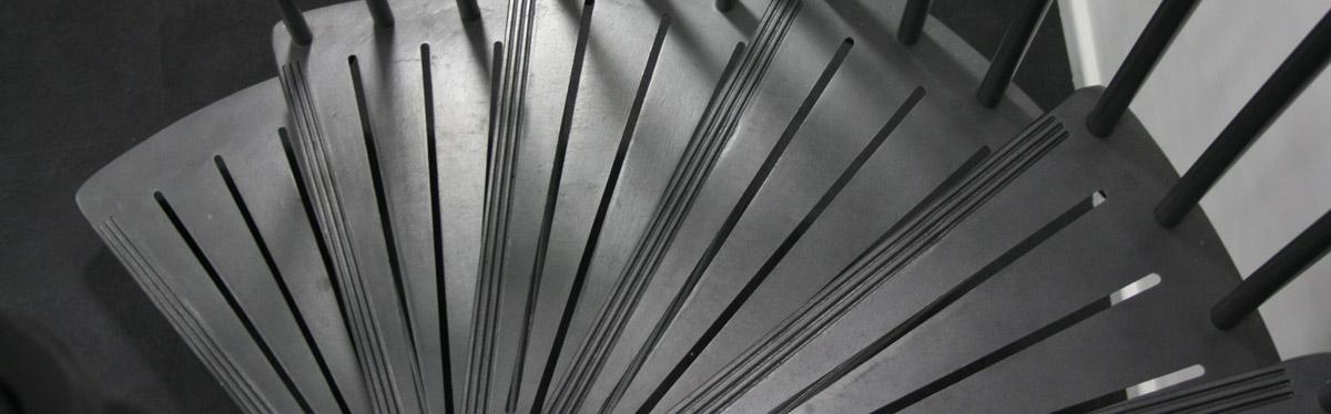 Modern Art Deco Spiral Stairs