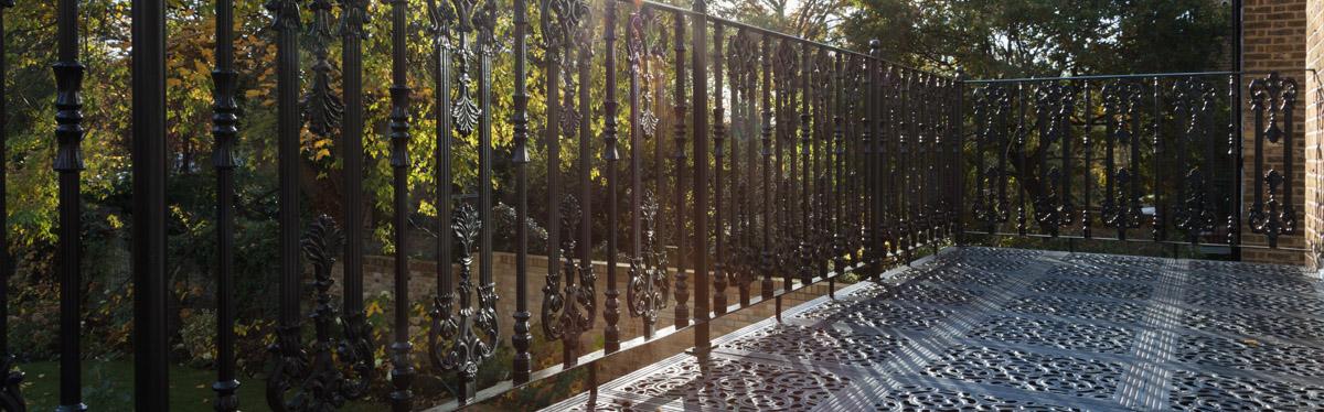 Victorian balcony metal