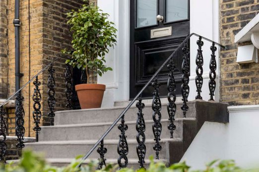 Exterior Staircase Railings