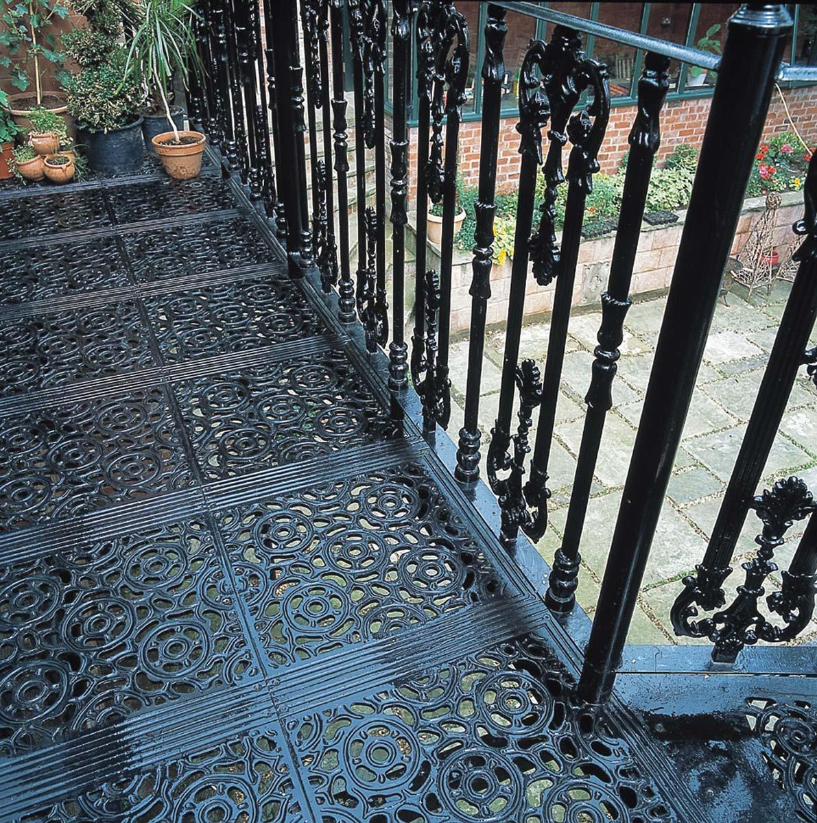 Victorian metal balcony