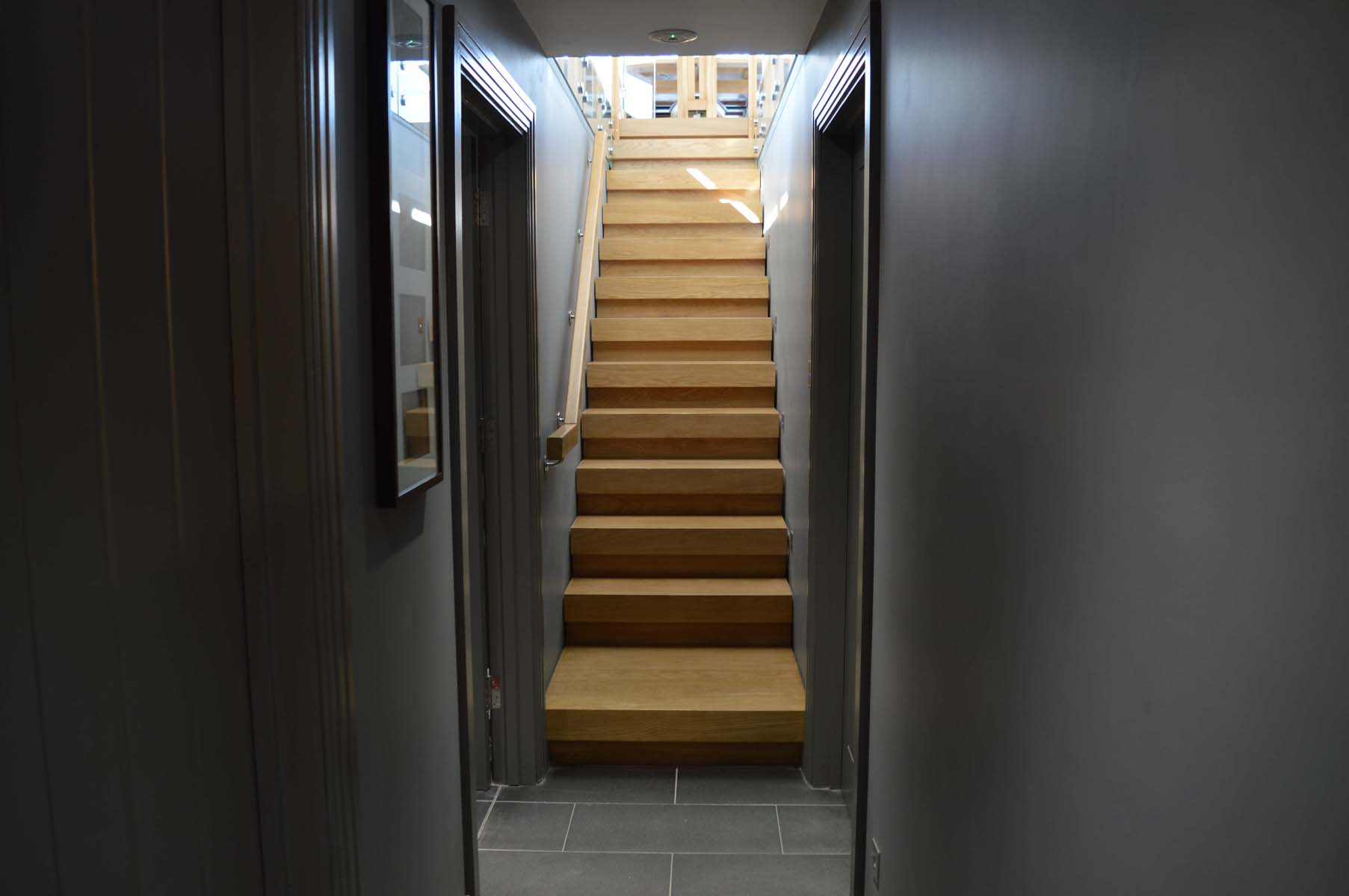 Solid timber staircase