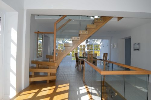 Kited Timber and Glass Staircase