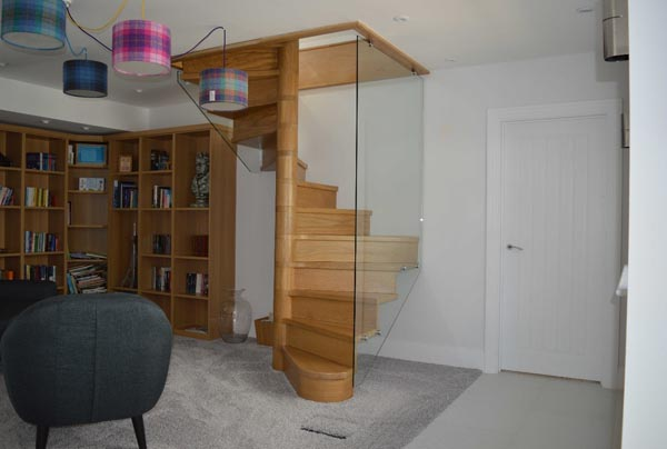 Timber and Glass Stairs
