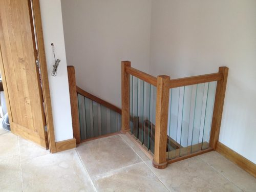 glass spiral staircase balustrade