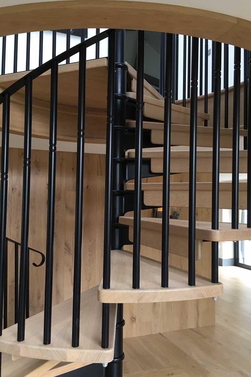 Scandinavian style spiral staircase