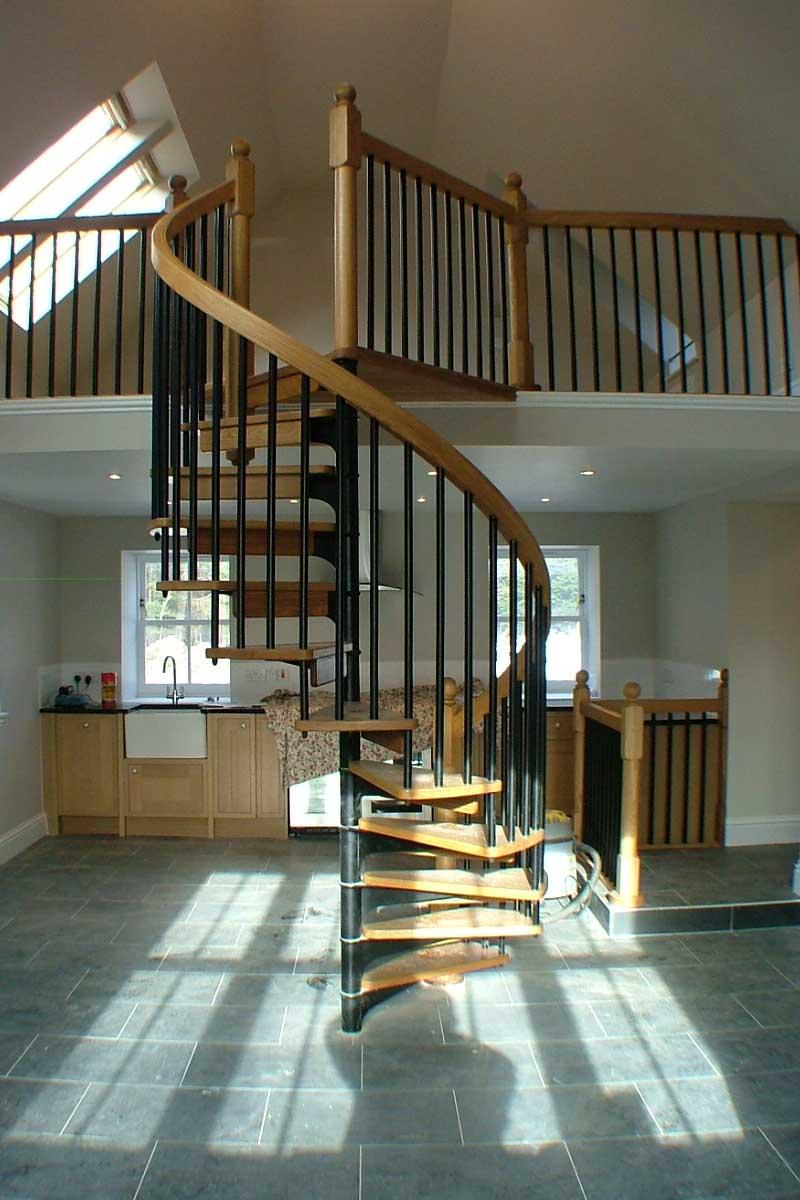 Scandinavian Spiral Stairs