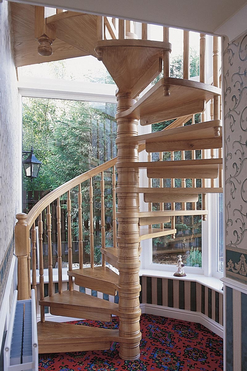 Solid timber stairs