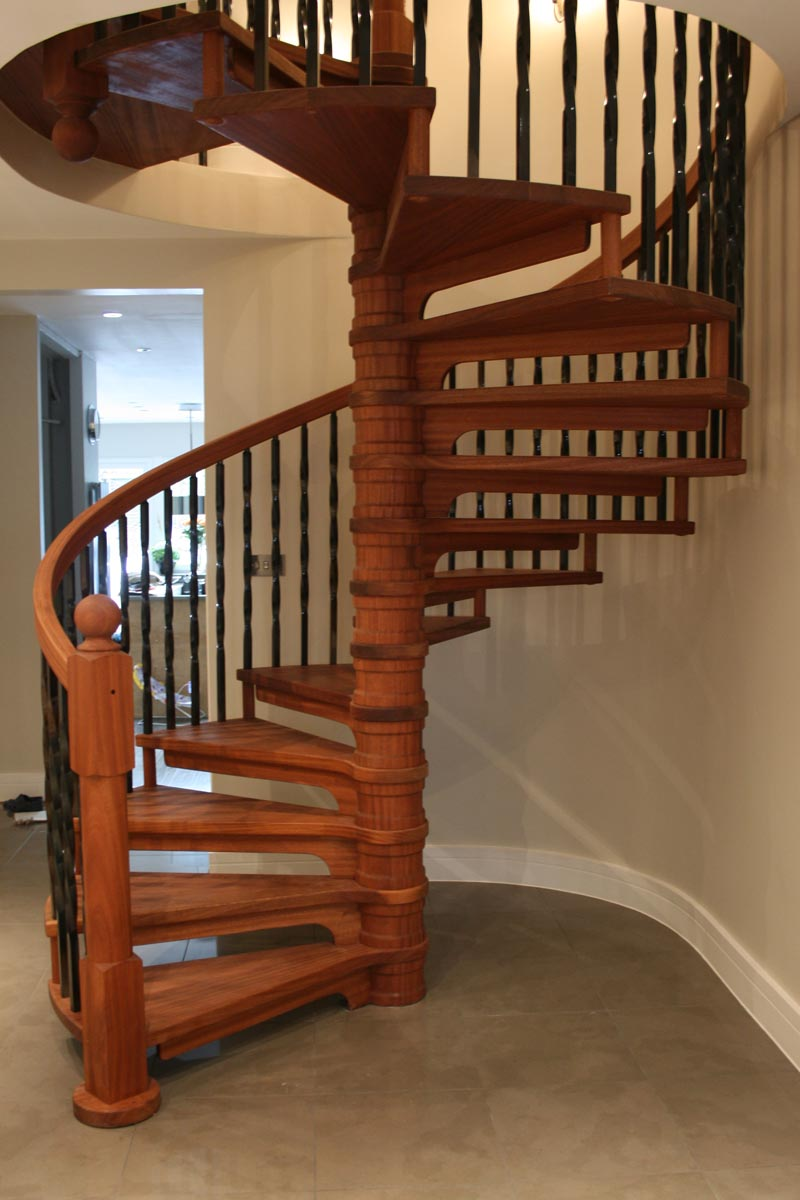 Spiral staircase wood