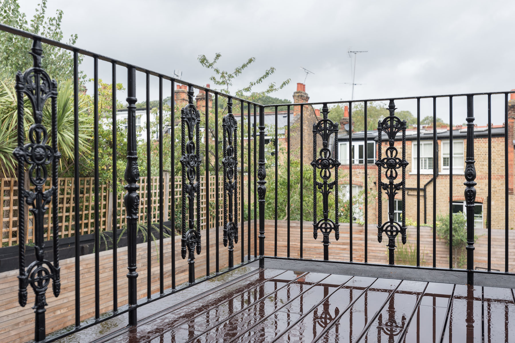 Wrought Iron Decorative Balcony Railing