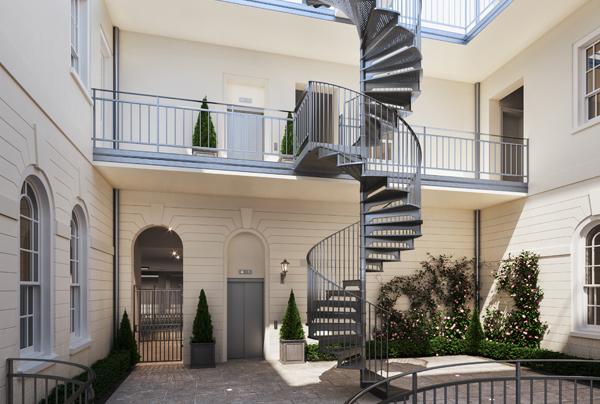 Sundridge regency spiral stairs