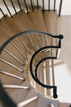 WH 2-2- Steel and Oak Helical Staircase