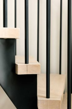 WH 2-3- Steel and Oak Helical Staircase