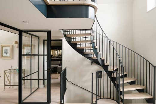 WH 2-6- Steel and Oak Helical Staircase