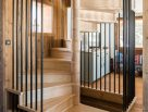 Ash Spiral Staircase Chalet