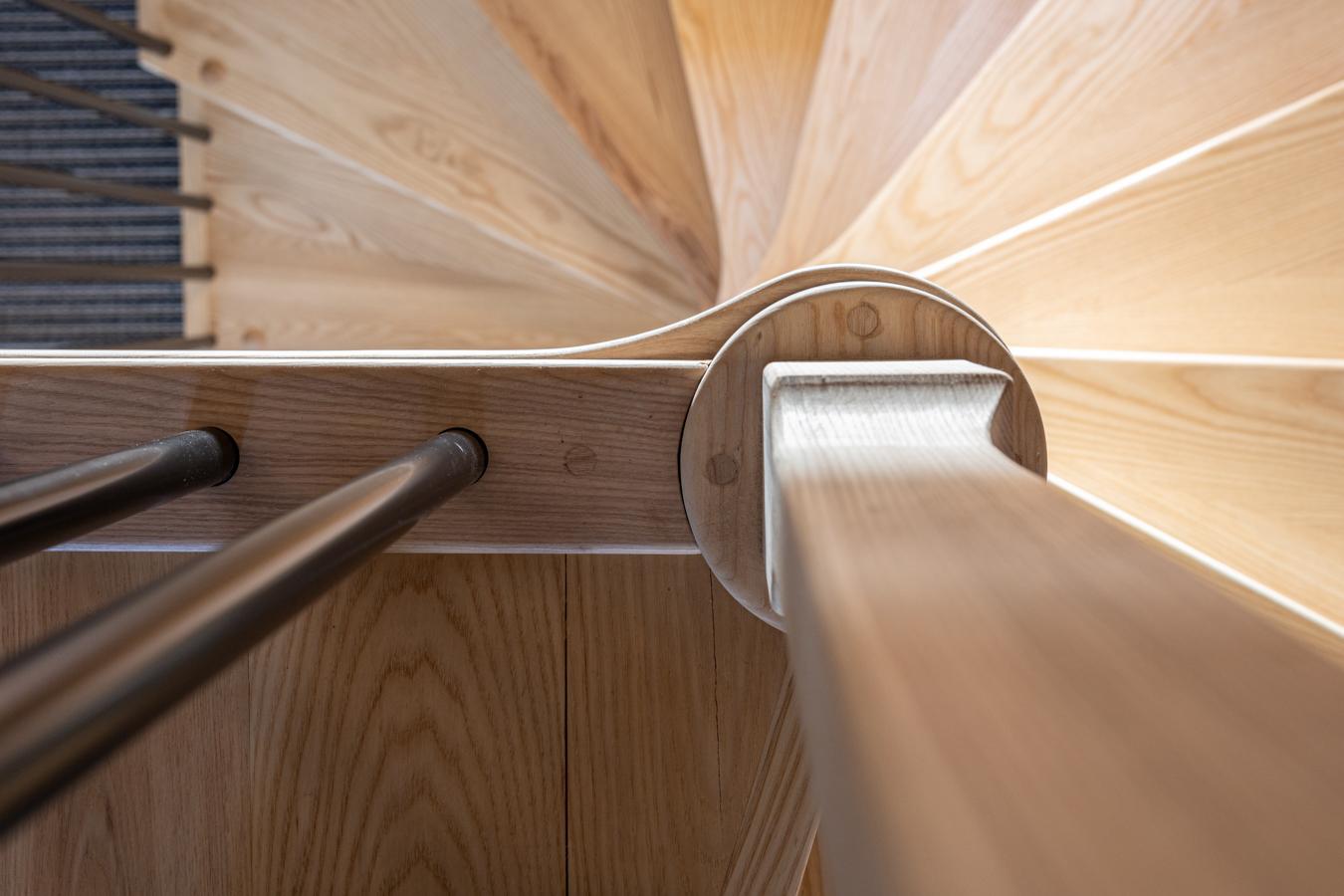 Oak spiral staircase treads