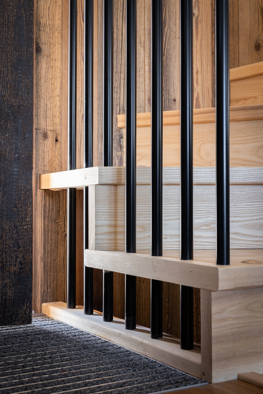 Ash Spiral Staircase Chalet